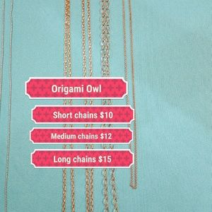 Origami Owl chains $10-$15 each